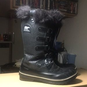 Sorel Shoes - Sorel glitter sz8 toviano boots. Gently used